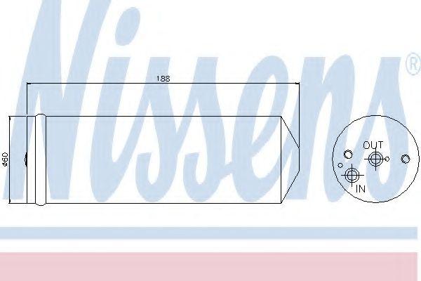 Осушитель, кондиционер NISSENS арт. 95065