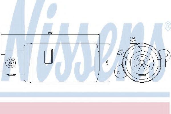 Осушитель, кондиционер NISSENS арт. 95076