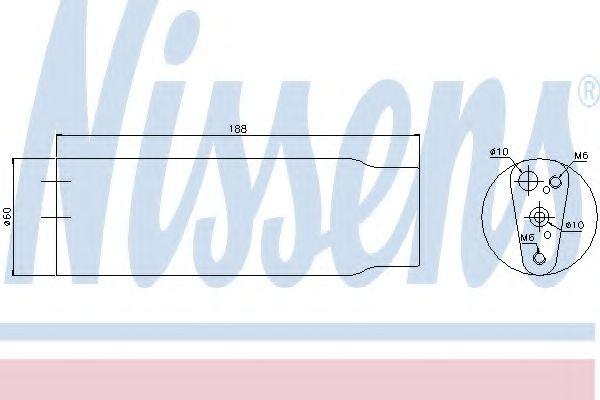 Осушитель, кондиционер NISSENS арт. 95170