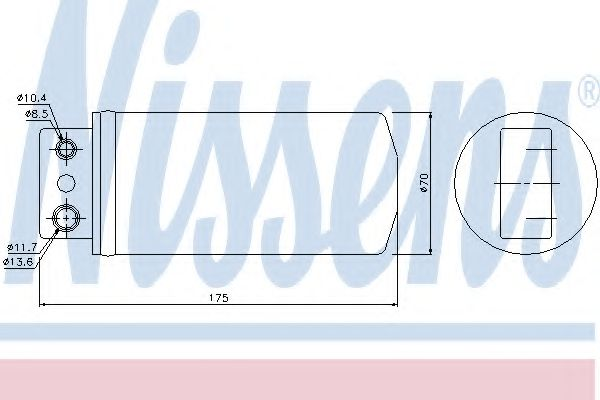 Осушитель, кондиционер NISSENS арт. 95235