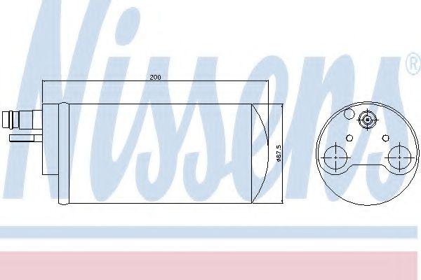 Осушитель, кондиционер NISSENS арт. 95341