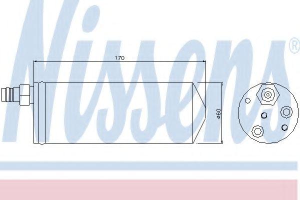 Осушитель, кондиционер NISSENS арт. 95363