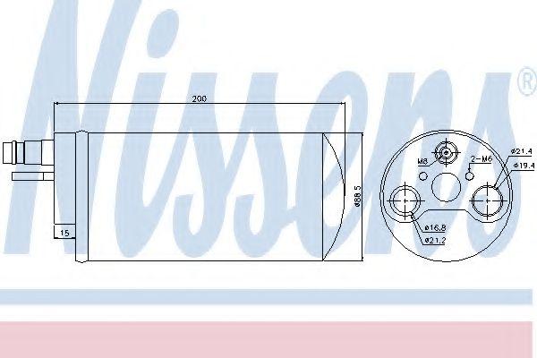Осушитель, кондиционер NISSENS арт. 95494