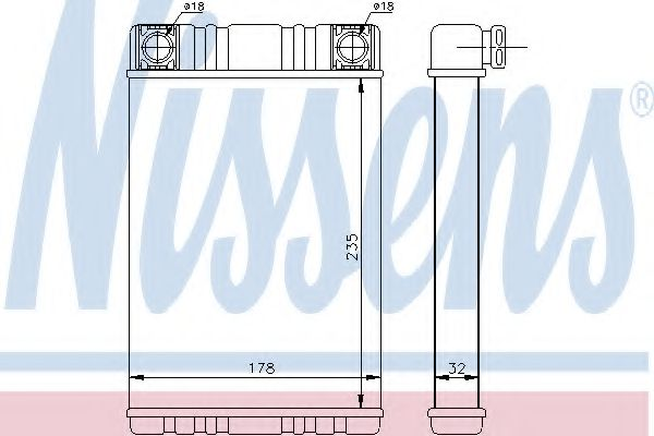 Радіатор пічки Nissens 72028