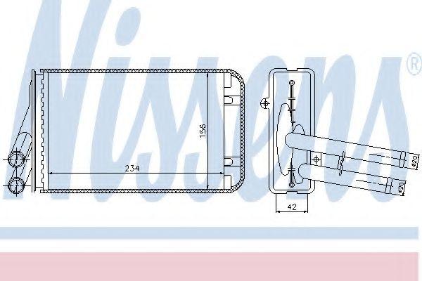 Теплообменник, отопление салона NISSENS арт.