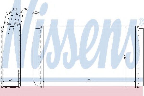 Теплообменник, отопление салона Nissens - 73940