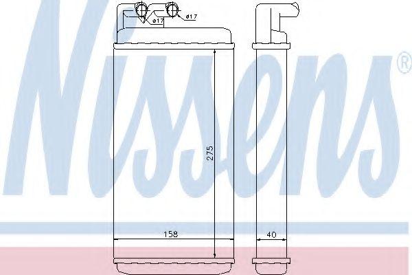 Радіатор пічки Nissens 70220