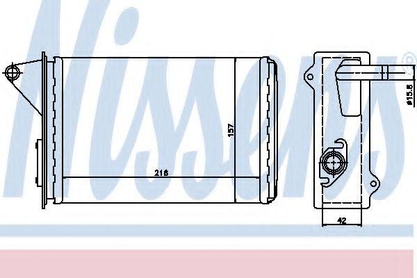 Теплообменник, отопление салона NISSENS арт. 71429