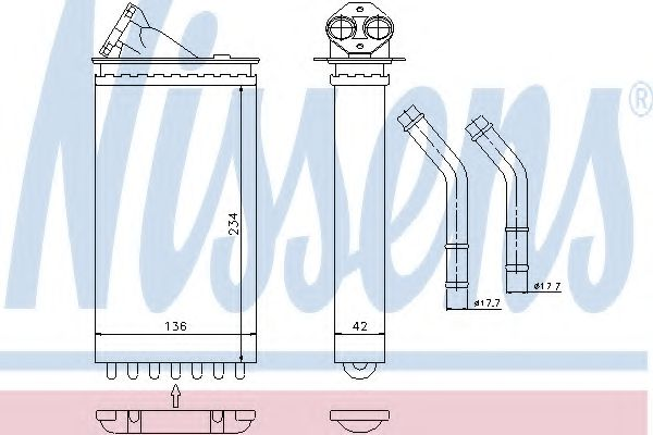 Теплообменник, отопление салона NISSENS арт. 71141