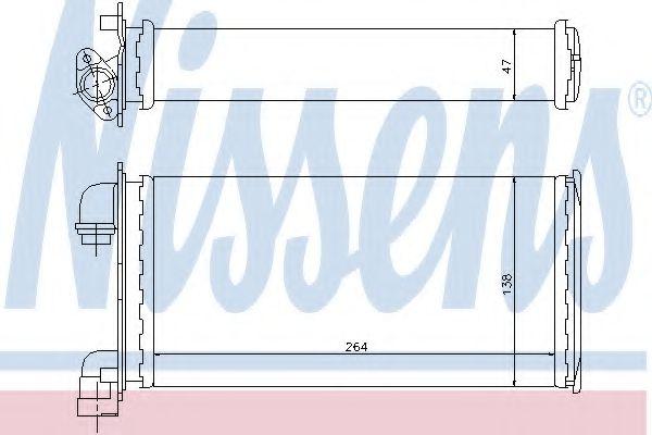 Радіатор пічки Nissens 70501
