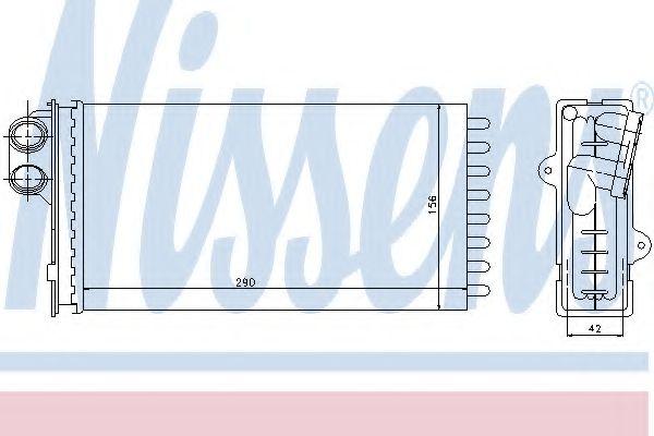 Теплообменник, отопление салона NISSENS арт. 71145