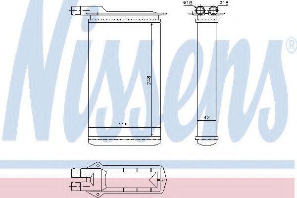 Теплообменник, отопление салона Nissens - 71942