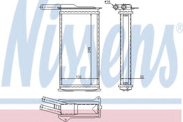Теплообменник, отопление салона NISSENS арт. 71751