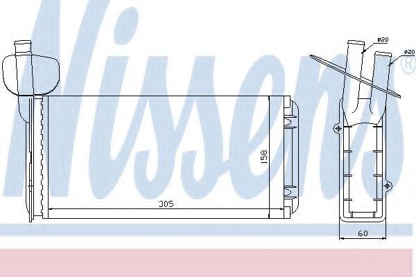 Радіатор пічки Nissens 73965