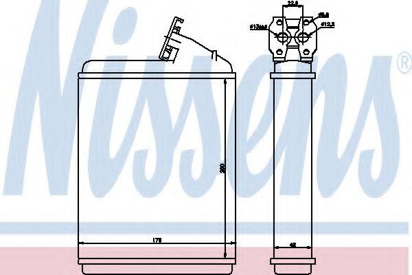 Теплообменник, отопление салона NISSENS арт. 71130