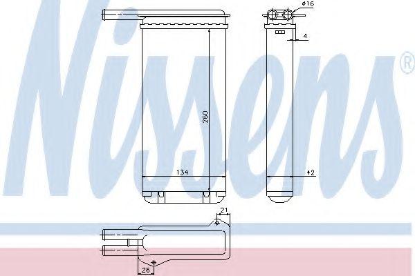 Теплообменник, отопление салона NISSENS арт. 71755