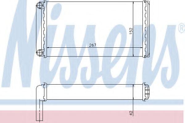 Теплообменник, отопление салона NISSENS арт. 71375