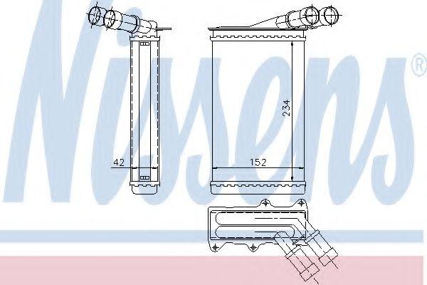 Теплообменник, отопление салона Nissens - 71156