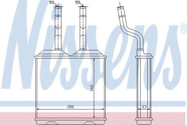 Теплообменник, отопление салона NISSENS арт. 72634
