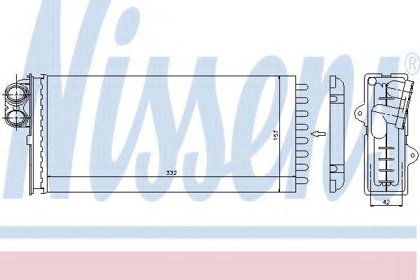 Радіатор пічки Nissens 73375