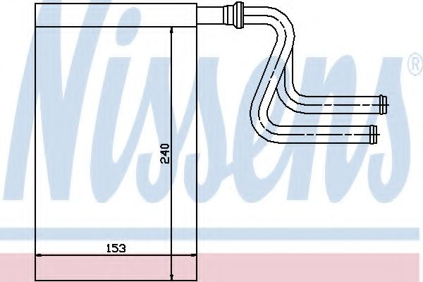 Теплообменник, отопление салона NISSENS арт. 71745