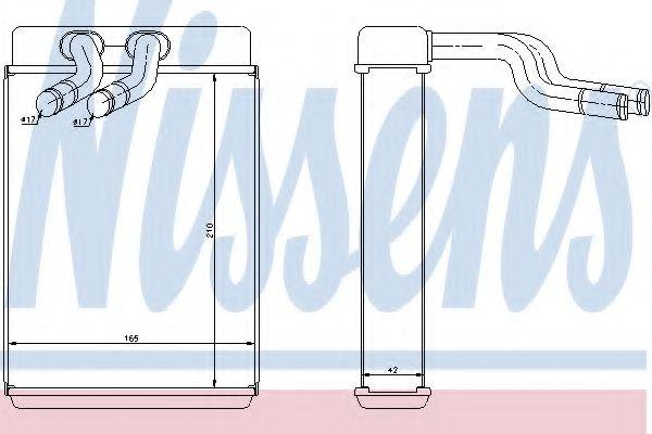 Радіатор пічки Nissens 77610