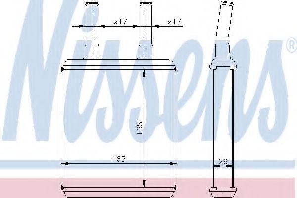 Радіатор пічки Nissens 77604