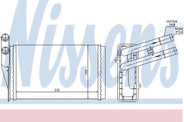 Радіатор пічки Nissens 70224