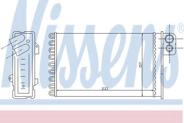 Теплообменник, отопление салона NISSENS арт. 71152