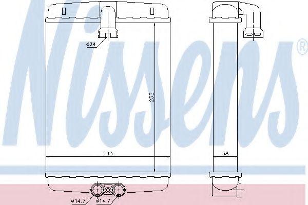 Теплообменник, отопление салона NISSENS арт. 72013