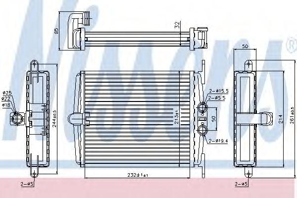 Радіатор пічки Nissens 72019