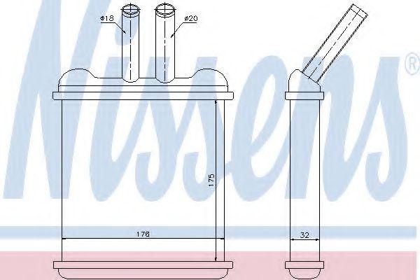 Радіатор пічки Nissens 76502