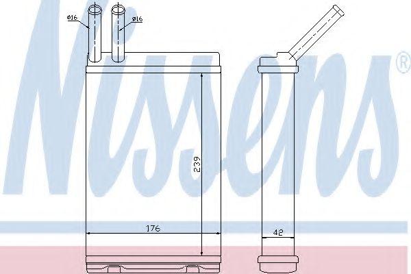 Теплообменник, отопление салона NISSENS арт. 73642