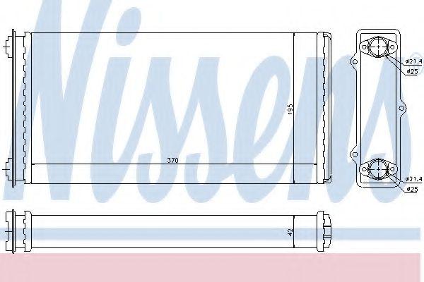 Теплообменник, отопление салона NISSENS арт. 71301