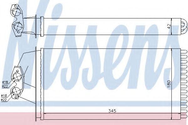 Теплообменник, отопление салона NISSENS арт. 72036