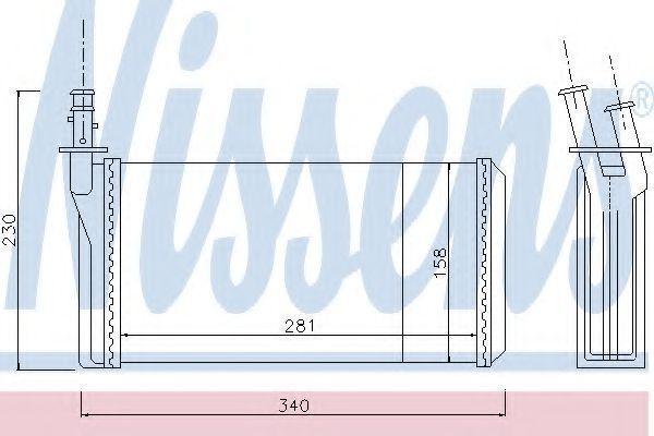 Радіатор пічки Nissens 70016