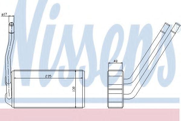 Теплообменник, отопление салона Nissens - 73000