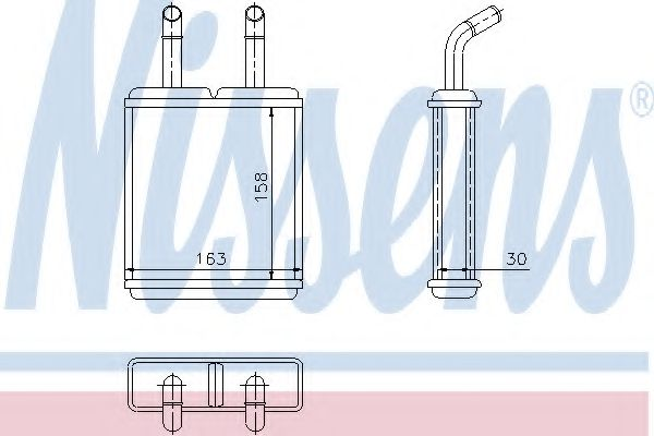 Теплообменник, отопление салона Nissens - 77621