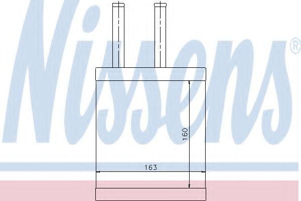 Радіатор пічки Nissens 77505