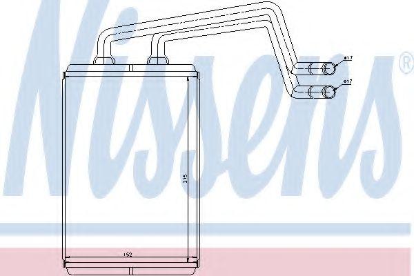 Теплообменник, отопление салона Nissens - 77612