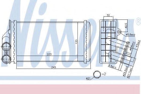 Теплообменник, отопление салона NISSENS арт. 71157
