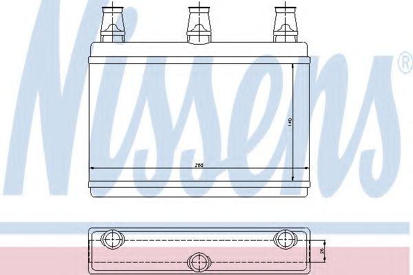 Теплообменник, отопление салона NISSENS арт. 70522