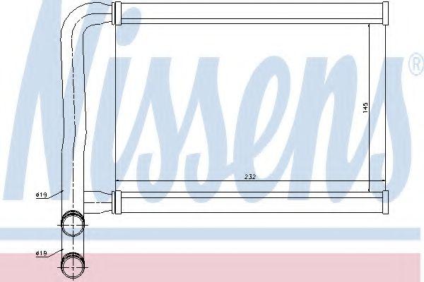Теплообменник, отопление салона Nissens - 77631