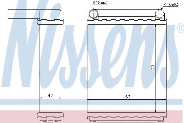Теплообменник, отопление салона NISSENS арт. 72038