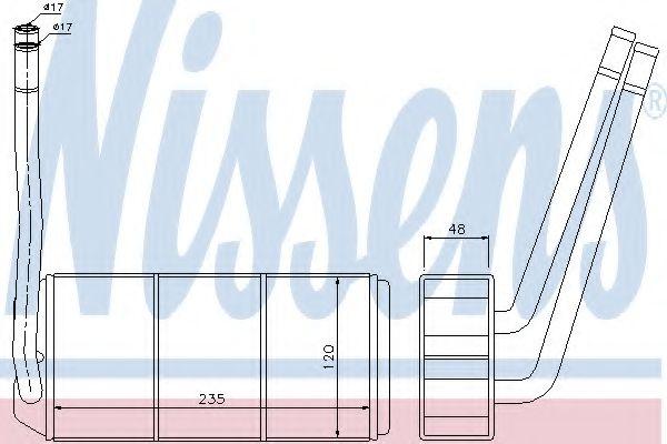 Теплообменник, отопление салона Nissens - 73001