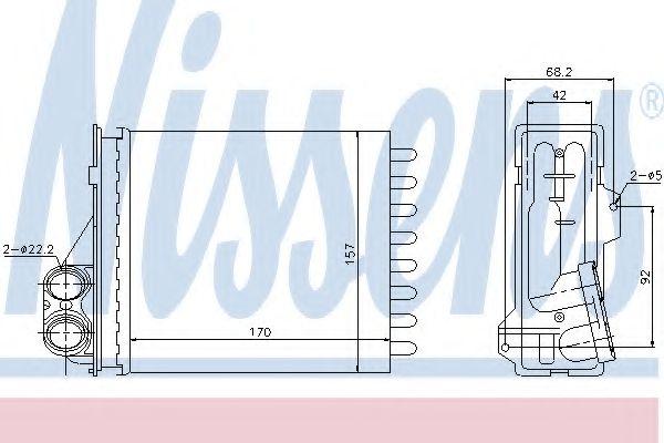Теплообменник, отопление салона Nissens - 76512
