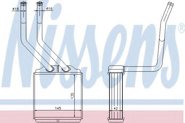 Теплообменник, отопление салона NISSENS арт. 71776