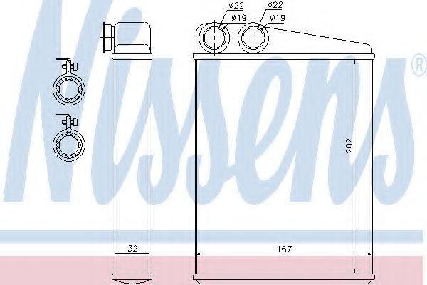 Радіатор пічки Nissens 72046