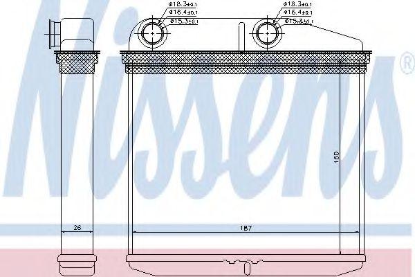Теплообменник, отопление салона Nissens - 71456