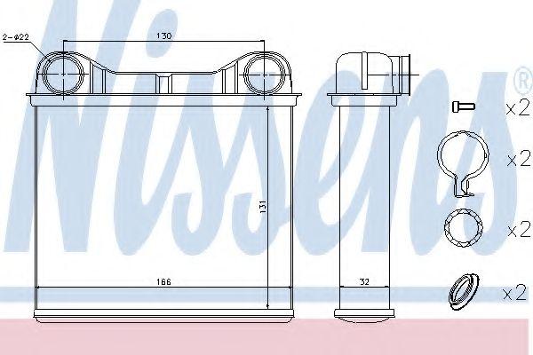 Радіатор пічки Nissens 72049